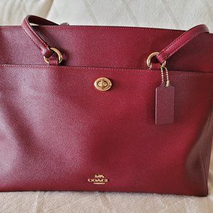 COACH Authentic Black Cherry Red Tote